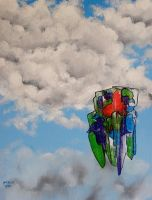 Clouds and Object 3 by JimmyMcCullough
