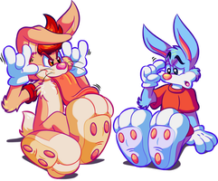 Bunny Paw Comparison by Marquis2007