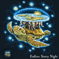 Endless Starry Night - tee by InfinityWave