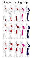 Clothing Design Ref 2 Sleeves by sunandshadow