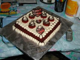 Red Velvet square cake for Mom by TortillaDelPeligro