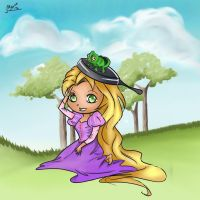 Tangled: Rapunzel chibi by plainage