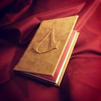Assassins Creed Codex Leather Book #13 and 14 by MerrillsLeather