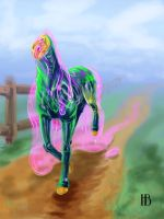Jello the wonder horse by Horace-Bulregard