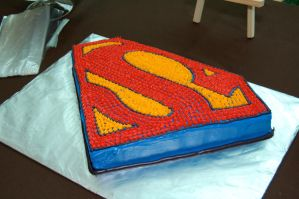 Superman Groom's Cake by msfourtune