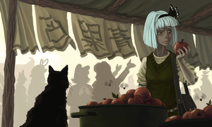 Human village market by U-Joe