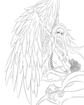 Angels Feathers Outlines by Dark-Angel-Misa