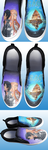 Sword Art Online inspired Hand Painted Shoes by DruidicDesigns