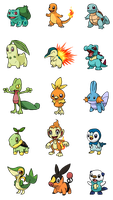 Starter Pokemon by Zeefster