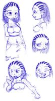 Cornrows by caramel-k