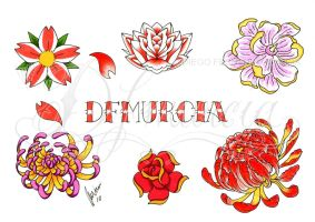 Flowers flash sheet by dfmurcia