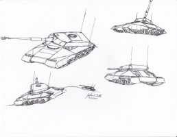 INSIDER Panzer Sketches by Tribble-Industries