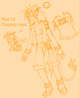 Red 13 Cosplay Idea by DesShade