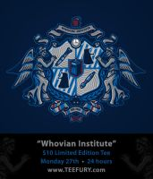 Whovian Institute on Teefury by Winter-artwork