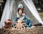 Stock - Lady from the sea sitting octopus by S-T-A-R-gazer