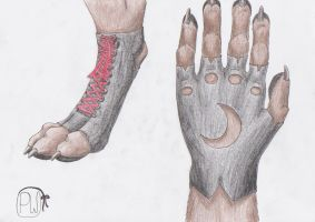 Anthro-Fashion Shoe and Glove by Wulvie-leigh