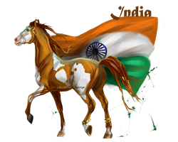 Horse Hetalia:  India by MUSONART