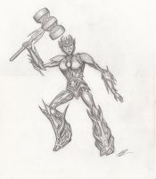 Solus Prime - pencil by raptarrin