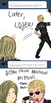 Ask Fabulous Leon - Wesker's hair products by Sora-in-my-pants