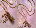 Magical Golden Dust Necklace [Current Giveaway!] by enchantedsea