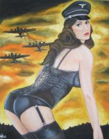 Nazi pin up in corset by TheCursedHearse