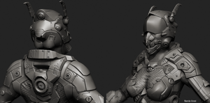 Sci-Fi LAR Scout - high poly sculpt by FuriKar