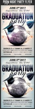 Graduation Party Flyer Template by Hotpindesigns