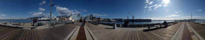 Lonsdale Quay Pier Panorama by jadennyberg