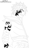 Etherious Natsu Dragneel - lineart by KhalilXPirates