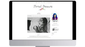 Floral Dreamers Blogger Template [BLACK] by tiny-moon