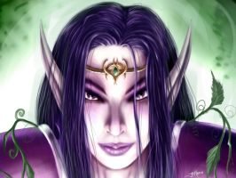 WoW Fanart - Night Elf Female by Sem-Jaza