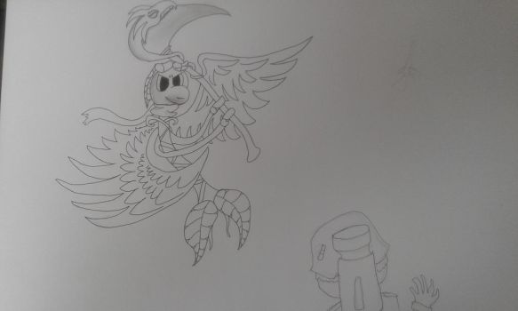 Night Angel doing his thing (WIP) by Volkerschild