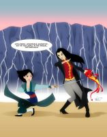 Mulan vs. Lady Shiva by micQuestion