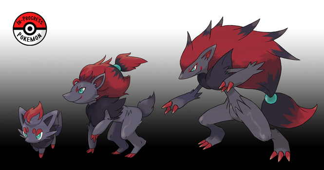 570 - 571 Zorua Line by InProgressPokemon