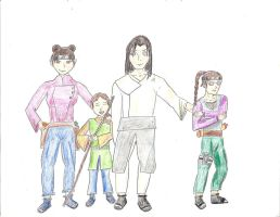 KCC Hyuga family (color) by cas42