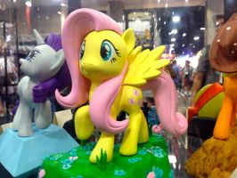Fluttershy Figure At Comic Con 2014 by GreenMachine987