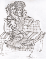 Beetlejuice and Lydia by RachelEwok