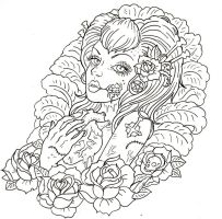 Zombie girl tattoo. by Israels-daughter