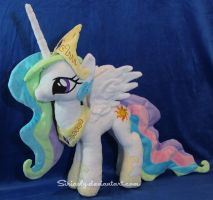 Princess Celestia Plush by siriasly
