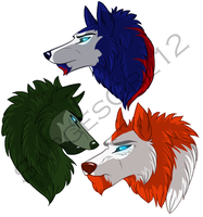 TFP Wolves Colored by The-Ravens-Of-Moraea