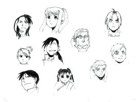 FMA Sketches by Hellocloser