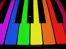 Rainbow Piano by getxthexpoint