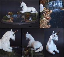 :.White Unicorn.: by XPantherArtX