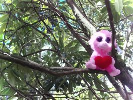 The Pink Monkey is Watching You by ILoveThePanda