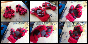 Red and Black Handpaws by CuriousCreatures