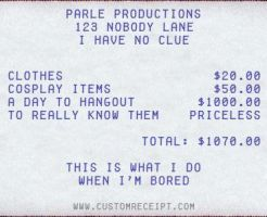 Parle Production's Receipt by nejigurl132