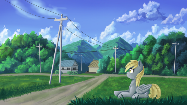Green hills and blue skies by Ailynd
