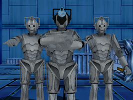 MMD NC - Cybermen and CyberLeader by Zeltrax987