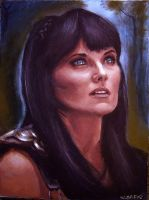 Xena in acrylics. by napalmnacey
