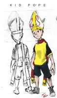 Kid Pope character design by corvid